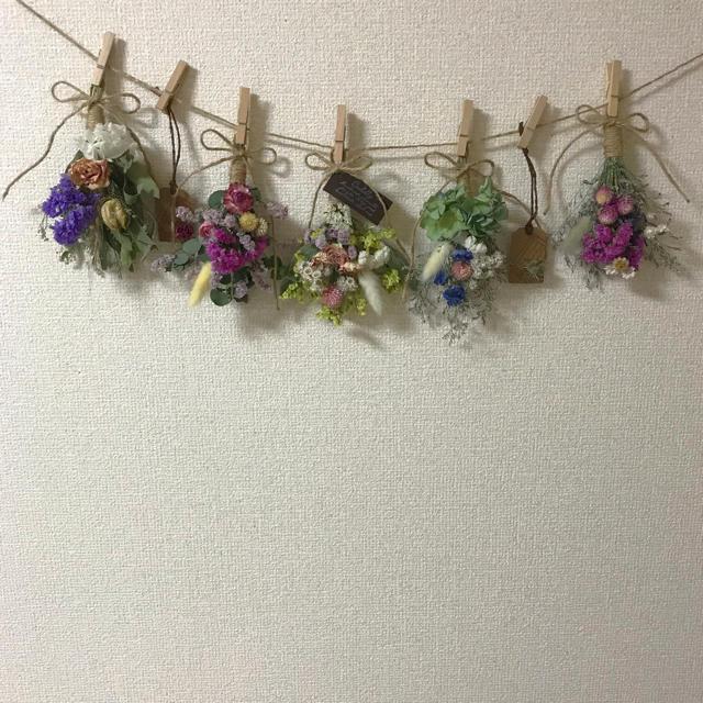 ミニスワッグ5点セット☆ガーランド☆ ハンドメイドのフラワー/ガーデン(ドライフラワー)の商品写真