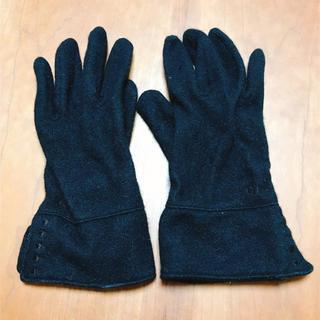 クロエ(Chloe)のChloe クロエ◆ウールグローブ 手袋  日本製 黒(手袋)