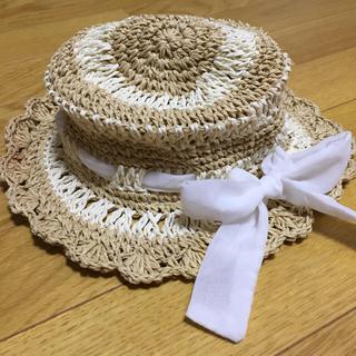 ハッカ(HAKKA)のゴム付き麦わら帽(帽子)