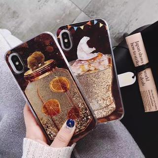 iPhone7.iPhone8ケース*液体キラキラくま(iPhoneケース)
