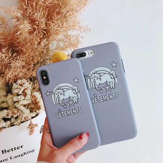 iPhone7.iPhone8ケース♡グレーユニコーン(iPhoneケース)