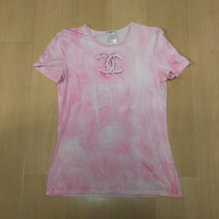 シャネル(CHANEL)の2、3度着用 シャネル Chanel Tシャツ 40 美品‼️ 巨大 CoCo(Tシャツ(半袖/袖なし))