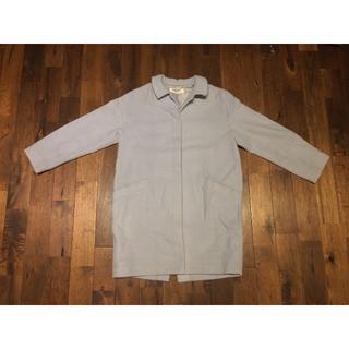 ナチュラルヴィンテージ(natuRAL vintage)のNATURAL BEAUTY BASIC コート 水色 Mサイズ(ピーコート)