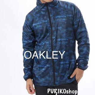 オークリー(Oakley)の新品タグ付★OAKLEYゴルフ★ナイロンジャケットフード★定価10,368円(ウエア)