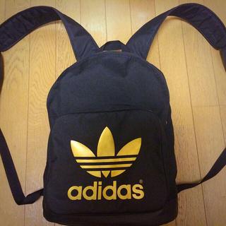 アディダス(adidas)のadidas 金×黒リュック(リュック/バックパック)