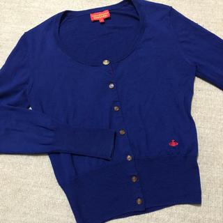 ヴィヴィアンウエストウッド(Vivienne Westwood)のVivienne Westwoood カーディガン 青 サイズ1(カーディガン)
