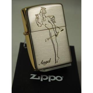 ジッポー(ZIPPO)のZippo ウィンディーガール/エンジェル&デビル・シルバーゴールド(タバコグッズ)