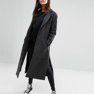 ニュールック(New Look)の海外ブランド 💛New Look💛グレー マキシ丈 コート 大きいサイズ (ロングコート)