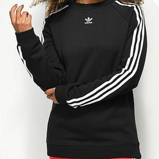 アディダス(adidas)の3 Stripe Black Crew Neck Sweatshirt(シャツ/ブラウス(長袖/七分))