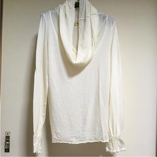 サブストリート(sabstreet)のSAB STREET ミルク色 長袖 オフタートルネックシャツ(カットソー(長袖/七分))