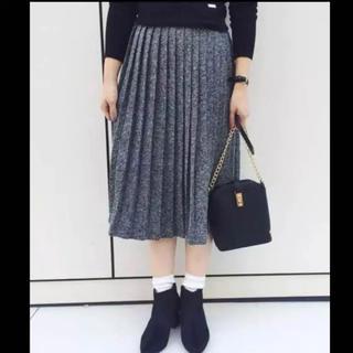 グースィー(goocy)のツイードプリーツスカート(ひざ丈スカート)