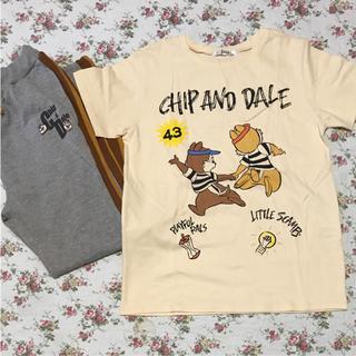 シマムラ(しまむら)のチップ&デール  ルームウェア  Tシャツ  スウェットパンツ  セット(ルームウェア)