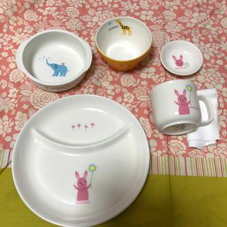 ニッコー(NIKKO)のaccototo  アッコトト 子供の食器5点セット(プレート/茶碗)