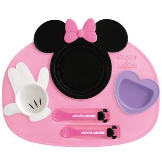 ディズニー(Disney)の新品 未開封 錦化成 ミニーマウス ディズニー ランチプレート(離乳食器セット)