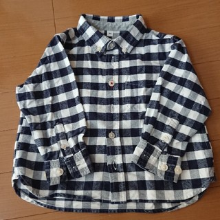 ムジルシリョウヒン(MUJI (無印良品))の【無印良品】ギンガムチェックシャツ90(ブラウス)