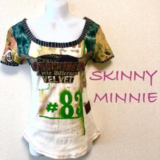 スキニーミニー(skinny minnie)のSKINNY MINNIE⭐️異素材デザインTシャツ(Tシャツ(半袖/袖なし))