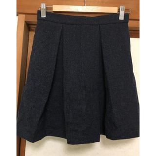 シーニューヨーク(Sea New York)の新品未使用 sea NEW YORK ウール混ボックスプリーツスカート(ひざ丈スカート)
