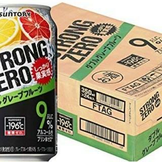 サントリー(サントリー)の送料無料サントリー チューハイ-196ストロングゼロ ダブル 350ml×24缶(リキュール/果実酒)