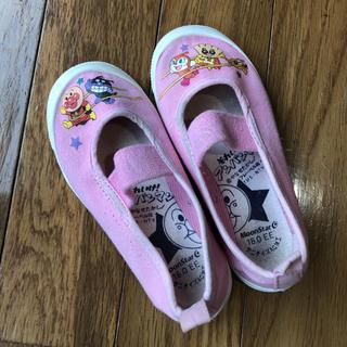 アンパンマン(アンパンマン)のアンパンマン バレーシューズ 16cm ピンク 上履き 上靴(スクールシューズ/上履き)