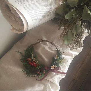 【限定1個】クリスマスミニリース(リース)