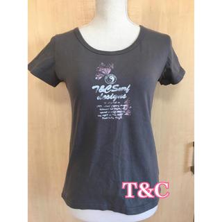 タウンアンドカントリー(Town & Country)のT&Cタウカン レディース グレーTシャツ(Tシャツ(半袖/袖なし))