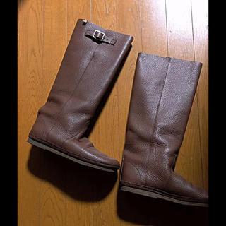 コース(KOOS)のKOOS ニーナL フルグレインレザーロングブーツ 24.5~25cm相当 美品(ブーツ)