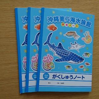沖縄美ら海水族館 学習ノート3冊(スケッチブック/用紙)