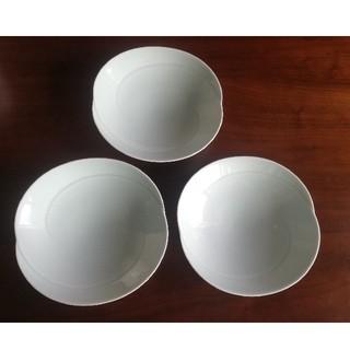 ハクサントウキ(白山陶器)の白山陶器 青白釉 ともえ 多用浅鉢 Lサイズ22cm 3点セット(食器)
