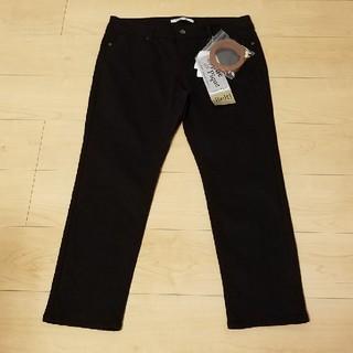 シマムラ(しまむら)の新品 ベルト付 スキニーパンツ ブラック 大きいサイズ 3L(スキニーパンツ)