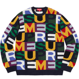 シュプリーム(Supreme)のsupreme big letters sweater multicolor M(ニット/セーター)