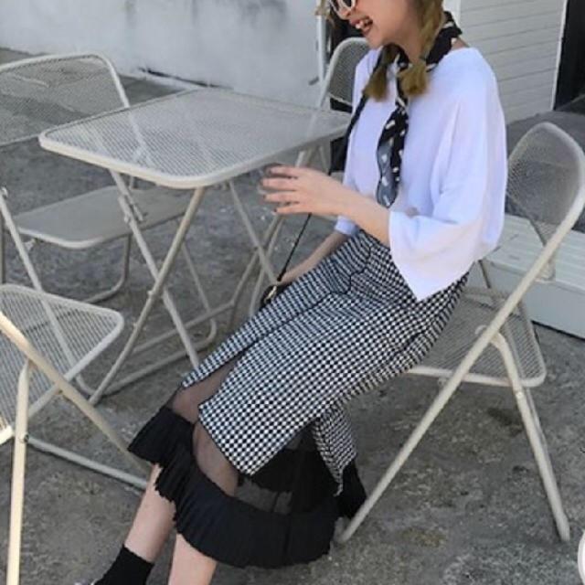 Honey mi Honey(ハニーミーハニー)の【美品】シースルー ギンガムチェック マーメイドスカート レディースのスカート(ロングスカート)の商品写真