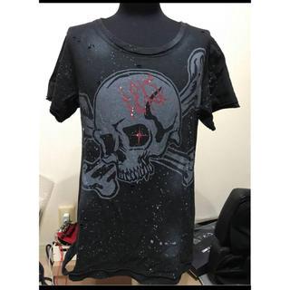 セックスポット(SEXPOT)の人気!SEX POT スカル&ヴィンテージ加工 半袖Tシャツ(検ロック(Tシャツ/カットソー(半袖/袖なし))