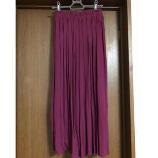 シマムラ(しまむら)のしまむら ボルドーロングスカート 新品(ロングスカート)