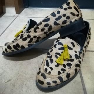 スライ(SLY)のスライSLYレオパードタッセルローファーハラコ(ローファー/革靴)