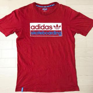 アディダス(adidas)のアディダスオリジナルス Tシャツ S〜Mサイズ メンズ 赤 ロゴマーク SB(Tシャツ/カットソー(半袖/袖なし))