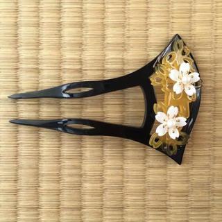 送料無料❤新品❤バチ型簪(かんざし)お桜(着物)