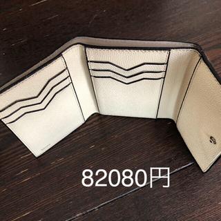 ヴァレクストラ(Valextra)のヴァレクストラ 三つ折り 白 コンパクト オフホワイト(折り財布)