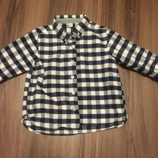 MUJI (無印良品) - 無印良品 チェックシャツ 100cm