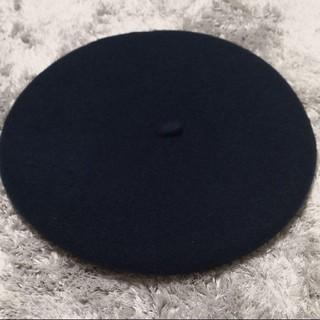 オーバーライド(override)のウールベレー帽 ネイビー override(ハンチング/ベレー帽)