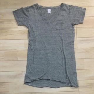 シー(SEA)のSEA シー Vネック Tシャツ ワンピ チュニック 胸ポケット(Tシャツ(半袖/袖なし))