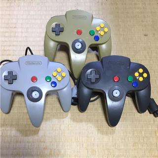 ニンテンドウ64(NINTENDO 64)の任天堂64 コントローラー 3個セット(家庭用ゲーム本体)