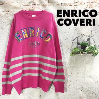 希少 ENRICO COVERI 刺繍 ニット セーター 奇抜 派手 90s