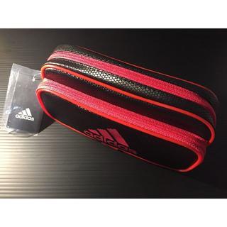 アディダス(adidas)のアディダス ソフトペンケース PT-1500AI 02 赤黒(ペンケース/筆箱)
