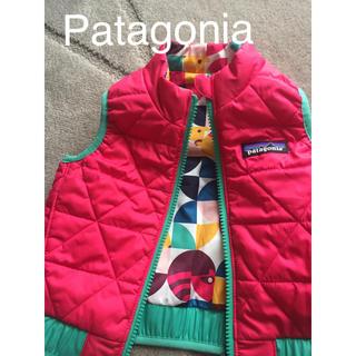 パタゴニア(patagonia)のPatagonia パタゴニア キッズ ダウンベスト リバーシブル 6M ピンク(ジャケット/コート)