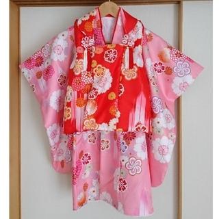 七五三 被布着物セット(化粧箱入り) 三歳 女の子 (和服/着物)
