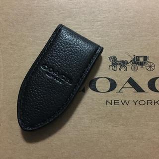 コーチ(COACH)の正規品 新品 COACH コーチ メンズ マネークリップ レザー 財布 ブラック(マネークリップ)