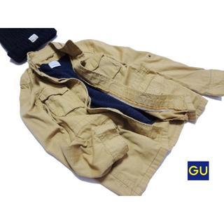 ジーユー(GU)の◆GU/ジーユー◆ レディースS ノーカラーチノ素材ジャケット (ノーカラージャケット)