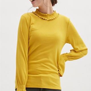ジーユー(GU)のGU フリルネックT(長袖)(Tシャツ(長袖/七分))