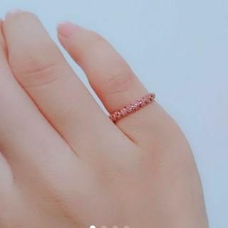 専用です◎K18 ピンクサファイアパヴェリング(リング(指輪))
