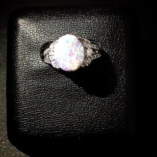 ブラックオパール&ダイヤモンド jewelry (リング(指輪))